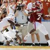 OU\'s DeMarco Murray (7) rushes for a touchdown in the first quarter during the Red River Rivalry college football game between the University of Oklahoma Sooners (OU) and the University of Texas Longhorns (UT) at the Cotton Bowl on Saturday, Oct. 2, 2010, in Dallas, Texas. Photo by Nate Billings, The Oklahoman