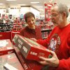 Brad and Shirley Smith look at gift items during early morning Black Friday shopping at the Kohl\'s store in Midwest City, OK, Friday, November 23, 2012, By Paul Hellstern, The Oklahoman