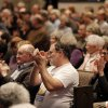 The congregation reacts after the announcement of the vote to leave Presbyterian Church (USA) at First Presbyterian Church of Edmond Sunday, January 27, 2013. Photo by Doug Hoke, The Oklahoman