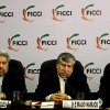 Photo -   Iranian Energy Minister Majid Namjoo, center, speaks as Federation of Indian Chambers of Commerce and Industry President, R. V. Kanoria, right, and Iranian Ambassador to India Sayed Mehdi Nabizadeh, left, listen during an interactive business meeting with FICCI members in New Delhi, India, Wednesday, Oct. 10, 2012. (AP Photo/Altaf Qadri)