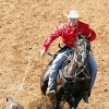 Tanner Hawkins, from Stillwater, in the Calf Roping at the International Finals Youth Rodeo in Shawnee, Friday, July 11, 2014. Photo by David McDaniel, The Oklahoman