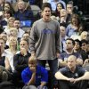 Dallas Mavericks owner Mark Cuban yells at officials during the fourth quarter of a NBA basketball game against the Houston Rockets, Wednesday, Jan. 16, 2013, in Dallas. The Mavericks won 105-100. (AP Photo/John F. Rhodes)