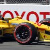 Photo - Ryan Hunter-Reay drives to win the pole position during IndyCar qualifying for the Grand Prix of Long Beach auto race on Saturday, April 12, 2014, in Long Beach, Calif. (AP Photo/Alex Gallardo)