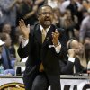 Missouri coach Frank Haith yells during the first half of his team\'s NCAA college basketball game against Illinois on Saturday, Dec. 22, 2012, in St. Louis. (AP Photo/Jeff Roberson)