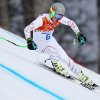 Photo - United States' Ted Ligety makes a turn during Men's super combined downhill training at the Sochi 2014 Winter Olympics, Tuesday, Feb. 11, 2014, in Krasnaya Polyana, Russia. (AP Photo/Alessandro Trovati)