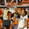 Oklahoma State\'s Le\'Bryan Nash (2) dunks the ball during a men\'s college basketball game between Oklahoma State University (OSU) and Texas Tech at Gallagher-Iba Arena in Stillwater, Okla., Saturday, Jan. 19, 2013. Photo by Nate Billings, The Oklahoman