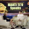 In this photo taken on Jan. 22, 2013 and released by ABC Notre Dame linebacker Manti Te\'o, right, speaking with host Katie Couric during an interview for