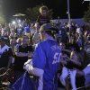 Fans cheer for shirts at Love\'s Thunder Alley, Monday, April 30, 2012. Photo by Garett Fisbeck, For The Oklahoman