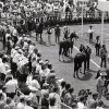 Photo - When Remington Park racetrack opened in 1988, the paddock was often flooded with fans.  OKLAHOMAN ARCHIVE PHOTO <strong></strong>
