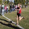 Photo - Plainview's Alex Davis crosses the finish line to win the class 3A girls State cross country meet at Gordon Cooper Vo-Tech in Shawnee, OK, Saturday, October 20, 2012. By Paul Hellstern, The Oklahoman