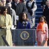 Barack Obama, left, joined by his wife Michelle, second from left, and daughters Malia, third from left, and Sasha, takes the oath of office from Chief Justice John Roberts to become the 44th president of the United States at the U.S. Capitol in Washington, Tuesday, Jan. 20, 2009. (AP Photo/Ron Edmonds)