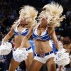 Members of the Thunder Girls dance team perform during a break in the action at NBA basketball game between the Oklahoma City Thunder and the Dallas Mavericks at Chesapeake Energy Arena in Oklahoma City, Thursday, Dec. 29, 2011. Oklahoma City won, 104-102. Photo by Nate Billings, The Oklahoman