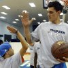 Taking a closer look at Steven Adams\' game. / Photo by Sarah Phipps, The Oklahoman