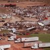 MAY 3, 1999 TORNADO: Tornado damage: A trucking company just east of I-35 near 27th Street in Moore.
