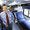 John Armitage, CEO of the Oklahoma Blood Institute, inside one of the institute\'s mobile blood collection buses. BY JIM BECKEL, THE OKLAHOMAN