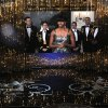 Photo - First lady Michelle Obama, appearing on screen from Washington, and actor Jack Nicholson present the award for best picture during the Oscars at the Dolby Theatre on Sunday Feb. 24, 2013, in Los Angeles.  (Photo by Chris Pizzello/Invision/AP)