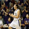 Anadarko\'s Lakota Beatty (23) reacts after making a shot and being fouled during a Class 4A girls high school basketball game against Vinita in the first round of the state tournament at the Sawyer Center on the campus of Southern Nazarene University in Bethany, Okla., Thursday, March 7, 2013. Anadarko won, 51-45. Photo by Nate Billings, The Oklahoman
