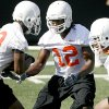 Photo - OSU's Johnny Thomas  during Oklahoma State University college football practice at Boone Pickens Stadium in Stillwater, Okla., Wednesday, August 5, 2009. Photo by Bryan Terry, The Oklahoman ORG XMIT: KOD