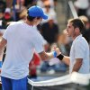 Andy Murray, left, of Great Britain, shakes hands with Flavio Cipolla, of Italy, after his 6-1, 6-3 win during their match at the Rogers Cup men\'s tennis tournament, Wednesday, Aug. 8, 2012, in Toronto. (AP Photo/The Canadian Press, Aaron Vincent Elkaim)