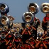 The Mustang band plays during a high school football game between Yukon and Mustang in Yukon, Okla., Friday, August 31, 2012. Photo by Bryan Terry, The Oklahoman