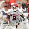 OU\'s 2003 road uniform. Worn by receiver Mark Clayton. PHOTO BY JIM BECKEL, The Oklahoman Archives
