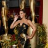 ** LINDA MILLER\'S COMMENTARY: It\'s fitting that she posed by the statuettes. The gown is too bold. At least she didn\'t accessorize. ** Actress and singer Beyonce Knowles arrives for the 81st Academy Awards Sunday, Feb. 22, 2009, in the Hollywood section of Los Angeles. (AP Photo/Matt Sayles) ORG XMIT: CAES122