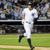 Photo - New York Yankees' Alex Rodriguez flips his bat after hitting a grand slam during the seventh inning of an interleague baseball game against the San Francisco Giants, Friday, Sept. 20, 2013, at Yankee Stadium in New York. (AP Photo/Bill Kostroun)