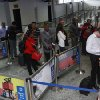 Passengers queue for their passport document check by immigration officers at the arrivals hall of Murtala Muhammed International Airport in Lagos, Nigeria, Monday, Aug. 4, 2014. Nigerian authorities on Monday confirmed a second case of Ebola in Africa\'s most populous country, an alarming setback as officials across the African region battle to stop the spread of the disease that has killed more than 700 people. (AP Photo/Sunday Alamba)