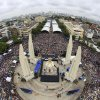 Photo -  In this photo released by Siam 360 and taken from a drone, anti-government protesters stage a rally Nov. 24, 2013, calling for Thai Prime Minister Yingluck Shinawatra to step down, at Democracy Monument in Bangkok, Thailand. In the United States, the Federal Aviation Administration is developing new rules as the technology makes drones far more versatile, but for now operators can run afoul of regulations by using them for commercial purposes, including journalism. AP Photo/Siam 360    -  AP