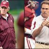 Virginia Tech coach Frank Beamer, left, and Alabama coach Nick Saban (AP Photos)