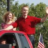 Oklahoma\'s District 5 Congressman James Lankford waves to the crowd during the annual LibertyFest Fourth of July Parade in downtown Edmond, OK, Thursday, July 4, 2013, Photo by Paul Hellstern, The Oklahoman