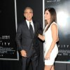 "Actors George Clooney and Sandra Bullock attend the premiere of ""Gravity"" at the AMC Lincoln Square Theaters on Tuesday, Oct. 1, 2013, in New York. (Photo by Evan Agostini/Invision/AP) ORG XMIT: NYEA109"