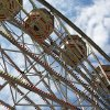 A Ferris wheel spins Sunday on the final day of the 2012 Oklahoma State Fair.