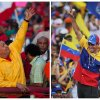 FILE - In this combo of two file photos shows Venezuela\'s President Hugo Chavez, left, waving to supporters during a election campaign rally in Guarenas, Venezuela on Sept. 29, 2012, and opposition presidential candidate Henrique Capriles, right, waving to supporters during a rally in Caracas, Venezuela on Sept. 30, 2012. Venezuelans will go to the polls on Oct. 7 for the country\'s presidential election. (AP Photo/Ariana Cubillos, Rodrigo Abd)