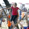 Caiton Beesley, from Pretty Water School, crosses a rope bridge during school day of the Oklahoma Wildlife Expo at the Lazy E Arena and Ranch in Guthrie, OK, Friday, September 28, 2012, By Paul Hellstern, The Oklahoman