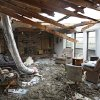 The remains of the living room of Roger and Joyce Eells whose house was destroyed by a tornado on Thursday near 122nd and Morgan Road on Friday, March 30, 2007, in Oklahoma City, Okla. staff photo by CHRIS LANDSBERGER