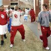 OU / BCS RANKINGS: University of Oklahoma college football players including Gerald McCoy (gesturing) and Joey Halzle (second from right) leave the Switzer Center after watching results of the Bowl Championship Series ranking in Norman, Oklahoma on Sunday, November 30, 2008. By Steve Sisney, The Oklahoman ORG XMIT: KOD