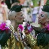 Photo - Guests in fancy costumes arrive for the opening ceremony of the Life Ball in front of City Hall in Vienna, Austria, Saturday, May 31, 2014. The Life Ball is a charity gala to raise money for people living with HIV and AIDS. (AP Photo/Ronald Zak)
