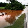 Water floods the road near the Coffee Creek Road and Kelly Avenue in Edmond, Okla. Monday, June 14, 2010. Photo by Jordon Shinn, The Oklahoman