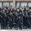 Members of the Crystal Elegance Majorettes arrive at the Greater Harvest Missionary Baptist Church for the funeral service of Hadiya Pendleton, also a member of the majorette team, Saturday, Feb. 9, 2013, in Chicago. The shooting death of the 15-year-old honor student has drawn attention to the staggering gun violence in the nation\'s third-largest city. (AP Photo/Nam Y. Huh)