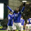 Photo - Everton's Romelu Lukaku celebrates scoring his side's fourth goal of the game during the English Premier League soccer match against Stoke City at Goodison Park, Liverpool, England, Saturday, Nov. 30, 2013. (AP Photo/Peter Byrne, PA Wire)  UNITED KINGDOM OUT  -  NO SALES  -  NO ARCHIVES