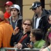 Photo - FILE - This Monday, April 15, 2013 file photo provided by Bob Leonard shows bombing suspects Tamerlan Tsarnaev, 26, center right in black hat, and his brother, Dzhokhar A. Tsarnaev, 19, center left in white hat, approximately 10-20 minutes before the blasts that struck the Boston Marathon. Dzhokhar Tsarnaev's legal defense is in the hands of Miriam Conrad, the chief federal public defender for Massachusetts, New Hampshire and Rhode Island. Conrad has asked a judge to appoint two additional lawyers with experience in death penalty cases. (AP Photo/Bob Leonard, File)