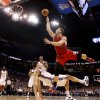 Oklahoma City\'s Nick Collison (4) draws a charge against Los Angeles\' Blake Griffin (32) during the NBA basketball game between the Oklahoma City Thunder and the Los Angeles Clippers at the Oklahoma CIty Arena, Tuesday, Feb. 22, 2011. Photo by Bryan Terry, The Oklahoman