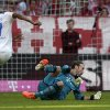 Photo - Hoffenheim's Anthony Modeste of France scores his side's opening goal during the German first division Bundesliga soccer match between FC Bayern Munich and TSG  1899 Hoffenheim, in Munich, southern Germany, Saturday, March 29, 2014. (AP Photo/Matthias Schrader)