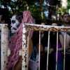 Lady Gaga fans stand outside, waiting to enter the stadium where the U.S. pop star will perform a concert, in Buenos Aires, Argentina, Friday, Nov. 16, 2012. The Latin American leg of her,