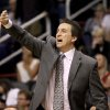 Los Angeles Clippers\' head coach Vinny Del Negro calls out signals from the bench during the first half of an NBA basketball game against the Phoenix Suns, Sunday, Dec. 23, 2012, in Phoenix. (AP Photo/Ralph Freso)