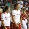 Oklahoma\'s Keilani Ricketts (10) walks off the field after OU\'s 8-6 loss during the championship game of the Women\'s College World Series against Alabama as ASA Stadium in Oklahoma City, Tuesday, June 5, 2012. Photo by Bryan Terry, The Oklahoman