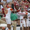 Oklahoma\'s Justin Brown (19) catches pass in front of Florida A&M\'s Jonathan Pillow (19), and Antwain Mathews (16) during the college football game between the University of Oklahoma Sooners (OU) and Florida A&M Rattlers at Gaylord Family-Oklahoma Memorial Stadium in Norman, Okla., Saturday, Sept. 8, 2012. Photo by Bryan Terry, The Oklahoman