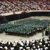 High school seniors prepare to receive their diplomas during the Edmond Santa Fe Commencement at the Cox Convention Center in Oklahoma City, OK, Saturday, May 15, 2010. By Paul Hellstern, The Oklahoman