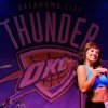Kayla dances during auditions for the OKC Thunder dance team, at Toby Keith\'s I Love this Bar and Grill, in Oklahoma City, Thursday, Sept. 11, 2008 BY MATT STRASEN, THE OKLAHOMAN.